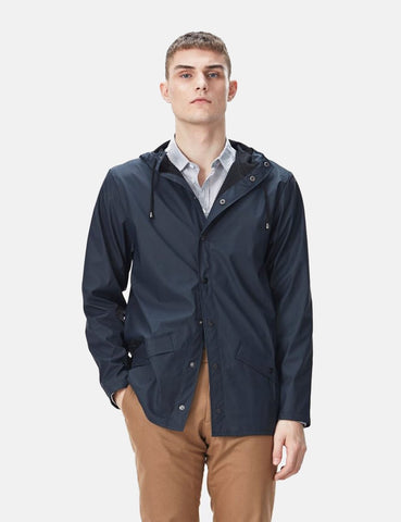 Rains Jacket - Navy Blue