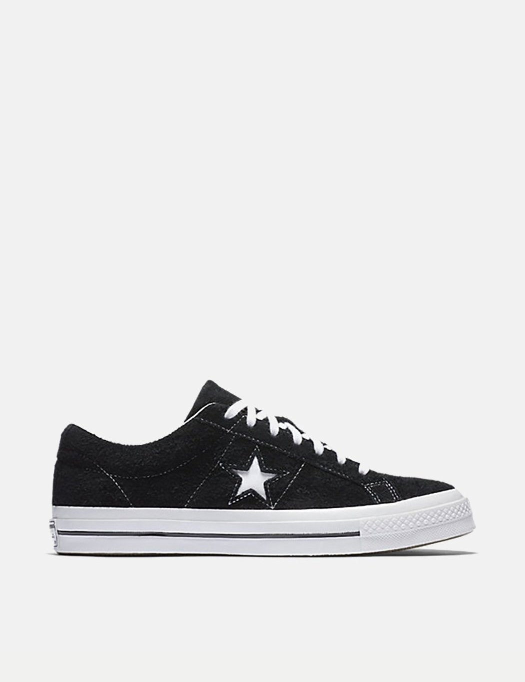 5f3c53cfaac4 Converse One Star Ox Low Suede (158369C) - Black White