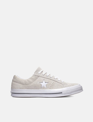 Converse One Star Ox Low Suede (161577C) - White/White/White