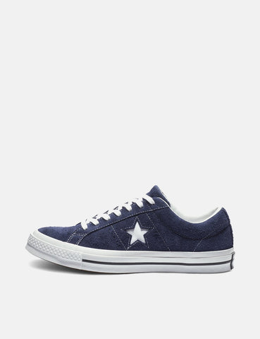 Converse One Star Ox Low Suede (162576C) - Eclipse/White