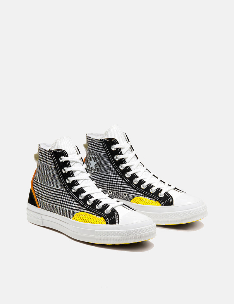 Converse Chuck 70 Hacked Fashion Hi (168696C) - Black/White/Speed Yellow