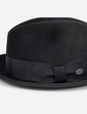 Bailey Riff Fur Felt Trilby Hat - Black