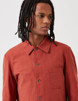 Vetra French Workwear Jacket Short (Dungaree Wash Twill) - Quince Red
