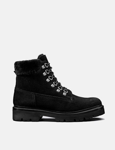 Womens Grenson Brooke Derby Hiker Boot (Suede) - Black