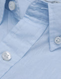 Gant Rugger Solid Cotton Linen Shirt - Evening Blue