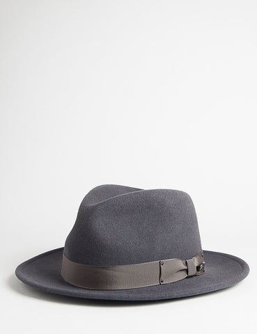 Bailey Curtis Widebrim Fedora Hat - Grey