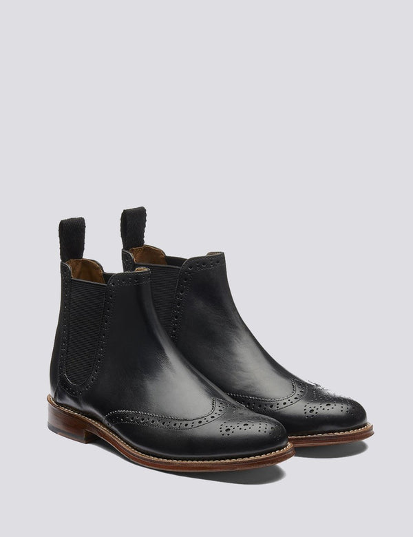 Womens Grenson Jessie Chelsea Boots (Leather) - Black
