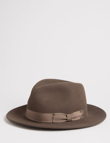 Bailey Curtis Widebrim Fedora Hat - Serpent Brown