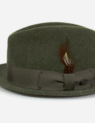 Bailey Tino Felt Crushable Trilby Hat - Highland Green