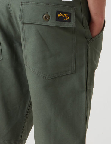 Stan Ray Fatigue Shorts - Olive Sateen