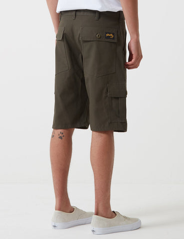 Stan Ray 6 Pocket Cargo Shorts (Loose) - Olive Green