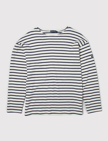 Armor Lux Loctudy Breton T-Shirt - Nature/Navy