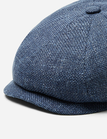 Stetson Hatteras Ellington Newsboy Cap (Silk/Wool) - Mottled Blue
