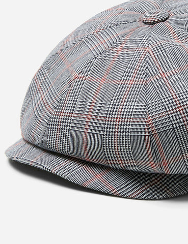 Stetson Hatteras Ballico Newsboy Cap (Wool) - Brown/Blue