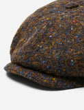 Stetson Hatteras Newsboy Cap (Wool) - Brown/Blue