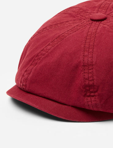 Stetson Hatteras Cotton Newsboy Cap (Cotton) - Red