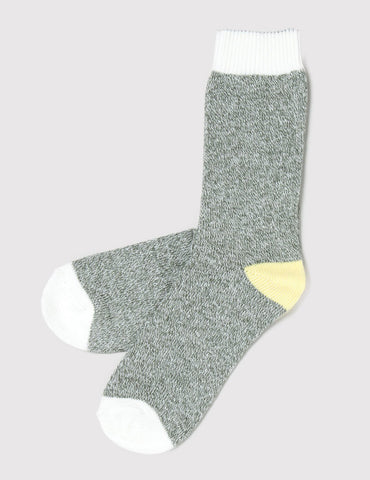 Democratique Relax Melange Contrast Socks - Army