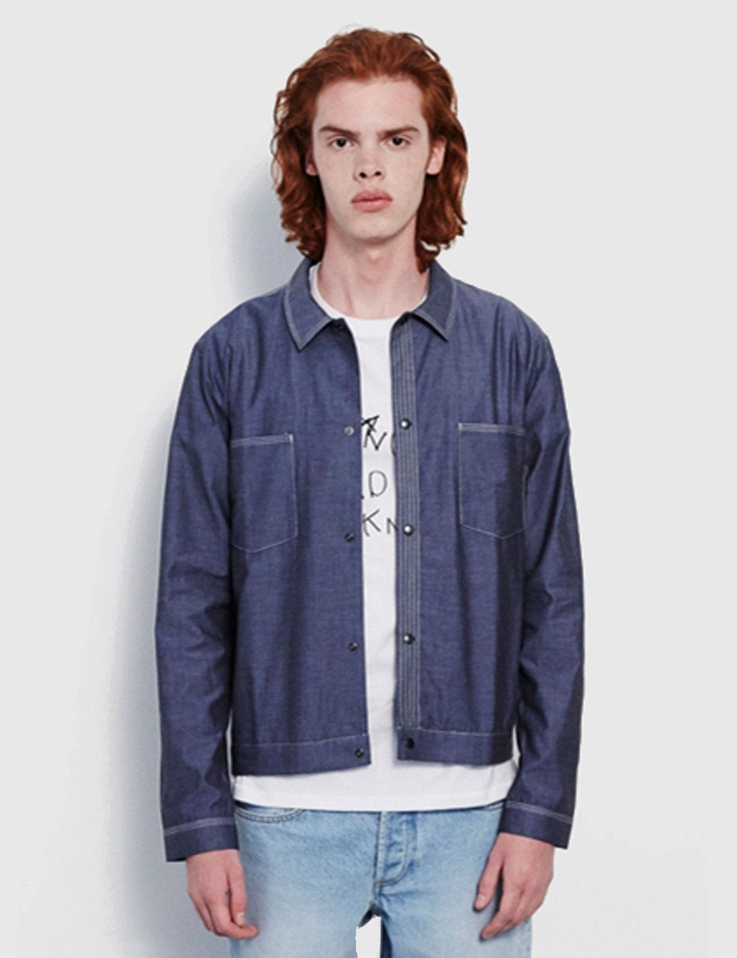 Soulland Hestehave Overshirt - Navy