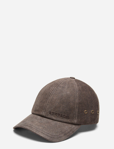 Stetson Pigskin Baseball Cap - Brown