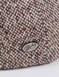 Bailey Galvin Tweed Newsboy Cap - Brown
