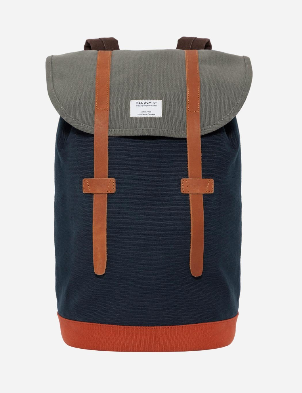 Sandqvist Stig Backpack - Navy Blue/Multi