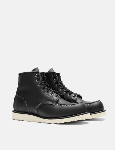 "Red Wing Heritage Work 6"" Moc Toe Boot - Black Chrome"