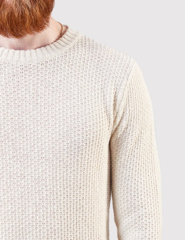 Gant Rugger Textured Knit Jumper - Cream