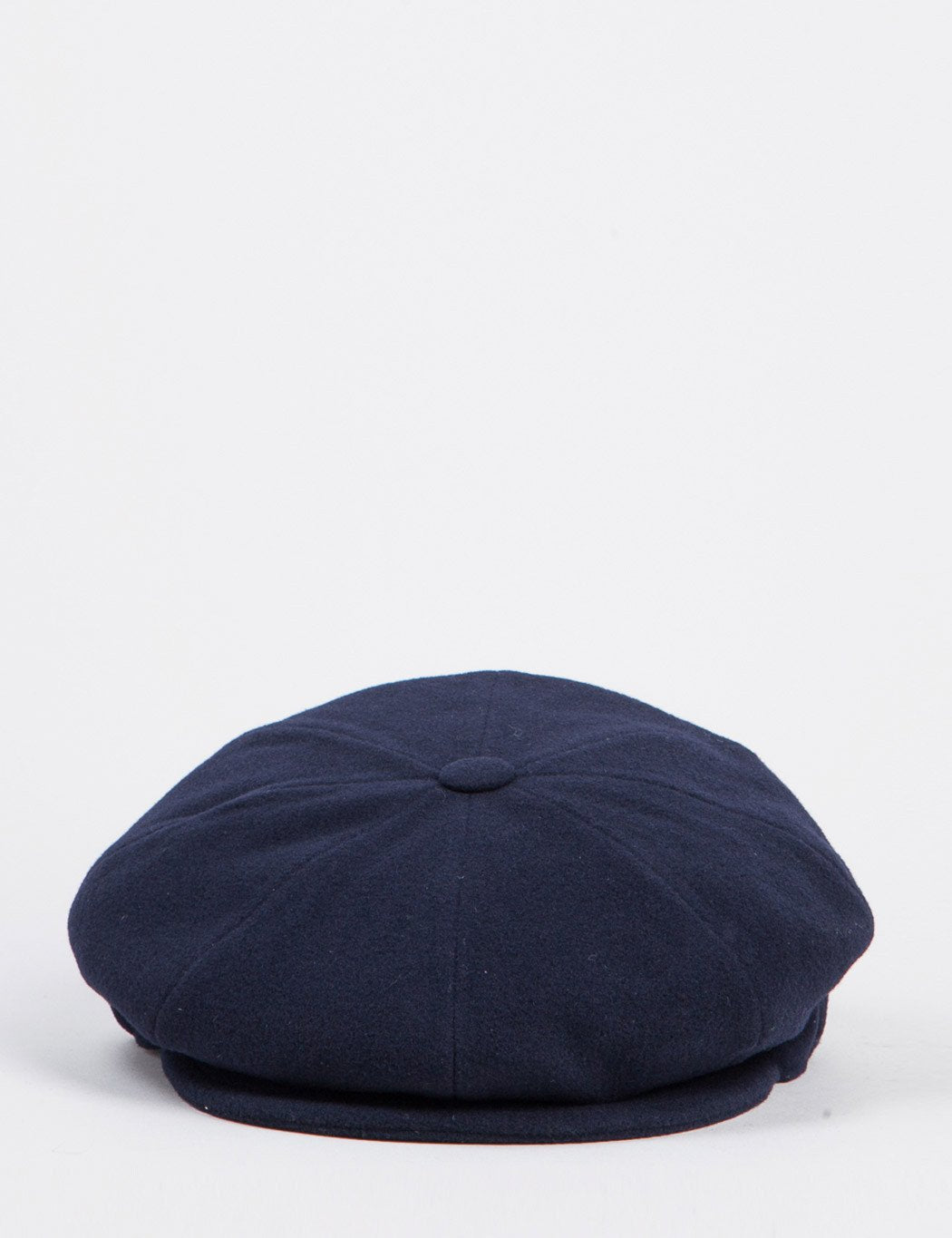 Bailey Galvin Wool Newsboy Cap - Navy Blue