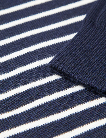 Armor Lux Dumet Striped Knit Jumper - Navy Blue