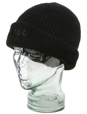 apb Dock Worker Roll Cuffed Beanie Hat - Black