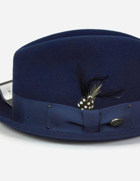 bd1935808fce6 ... Bailey Tino Felt Crushable Trilby Hat - Navy · Bailey Hats