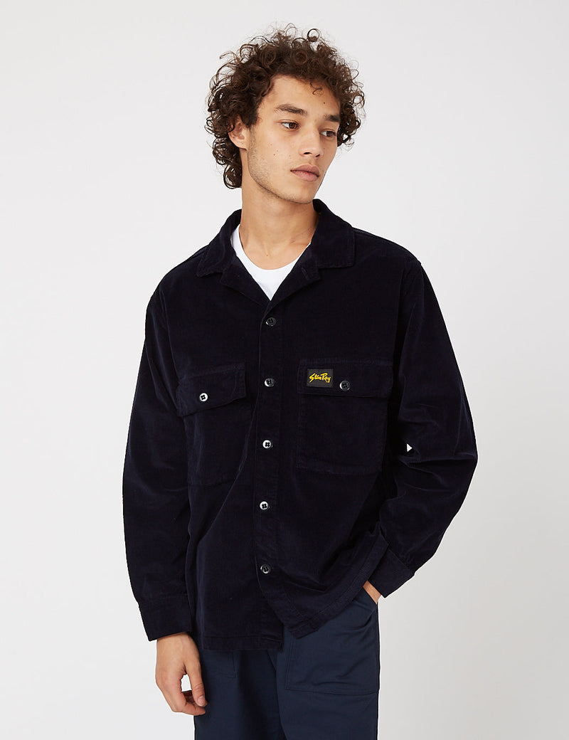 Stan Ray CPO Shirt (Corduroy) - Navy Blue