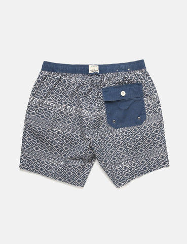 Deus Ex Machina Sandbar Eastern Maze Shorts - Dark Denim
