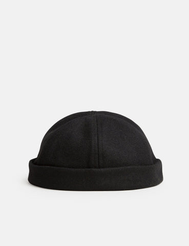Bhode Dock Worker Hat (Wool) - Black