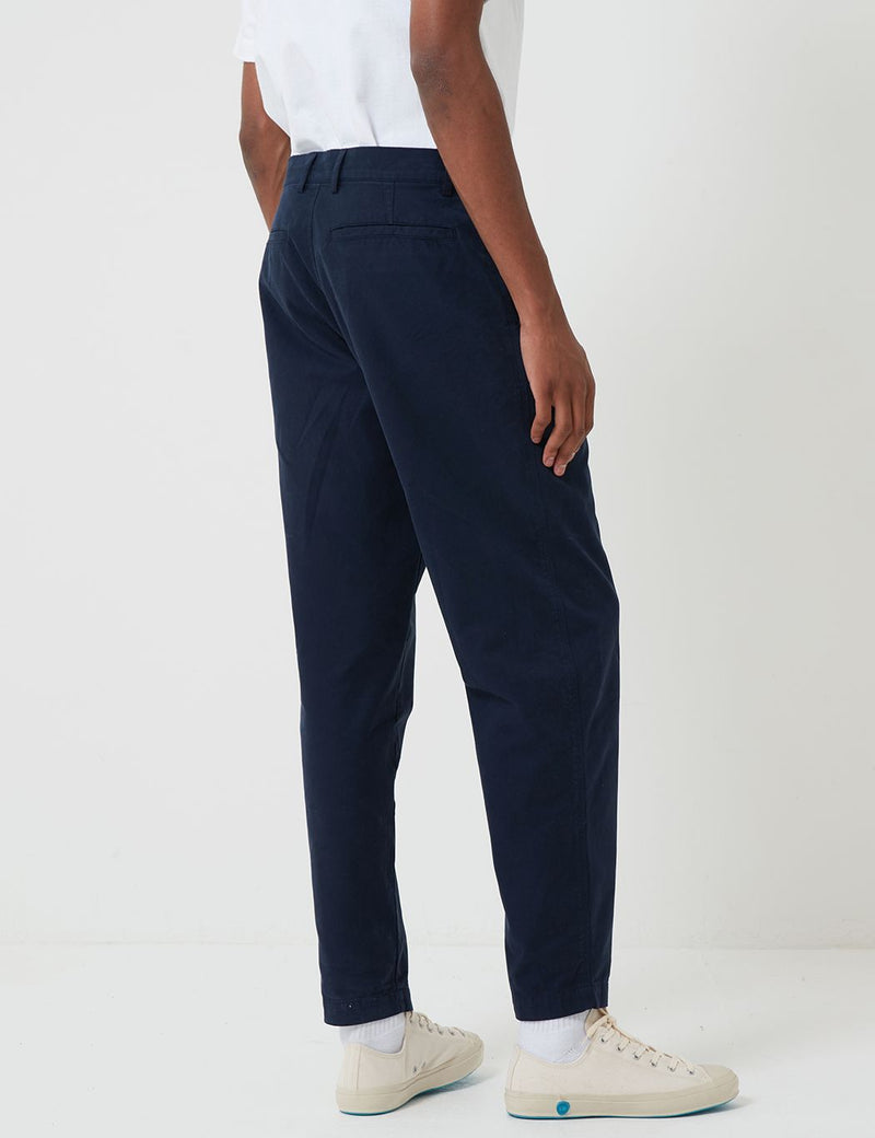 Bhode Everyday Pant (Relaxed, Cropped Leg) - Night Sky Blue