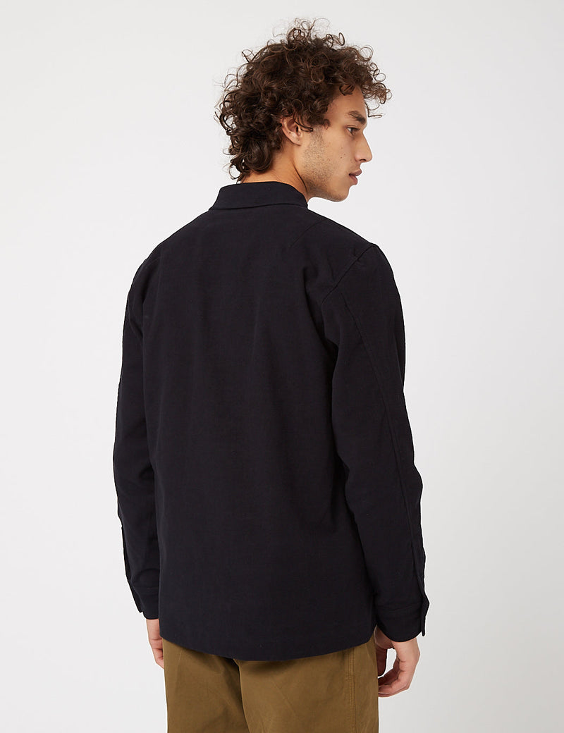 Bhode Overshirt (Cotton Moleskin) - Black