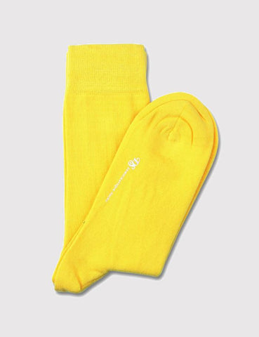 Democratique Original Solid Socks - Bright Yellow