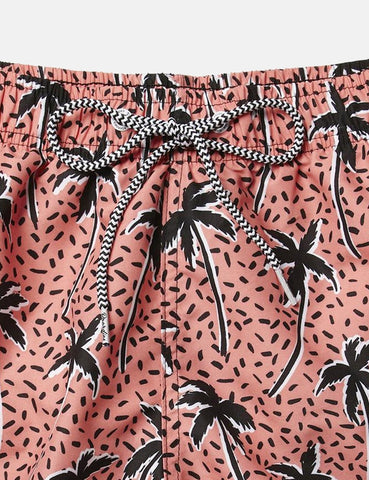 Boardies Flair Palm Red Shortie Swim Shorts - Multi