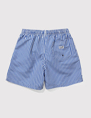 Boardies Deck Stripes Swim Shorts (Mid-Length) - Navy/White