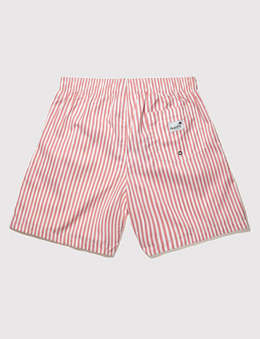 Boardies Stripes Drawstring Swim Shorts - Pink/White