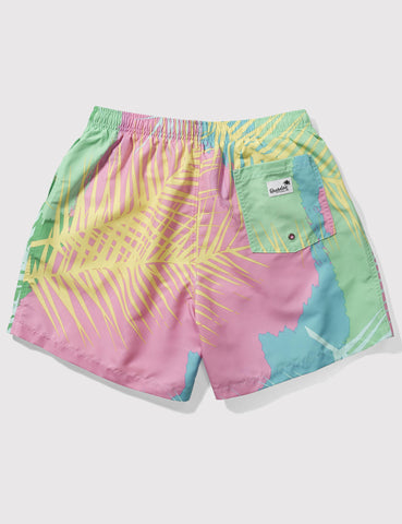 Boardies Tropicano Drawstring Swim Shorts - Pink/Green