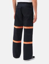 Dickies Gardere Reflective Tape Trousers - Dark Navy Blue