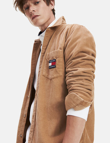 Tommy Hilfiger Cord Shirt - Tiger's Eye Beige
