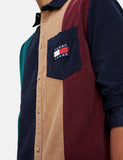 Tommy Hilfiger Colourblock Cord Shirt - Black Iris/Multi