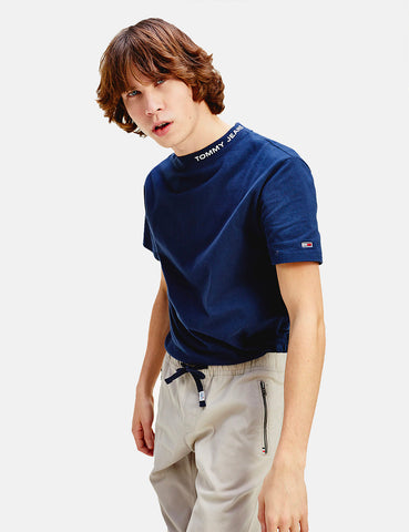 Tommy Jeans High Neck T-Shirt - Twilight Navy