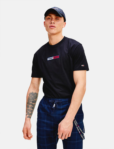 Tommy Jeans Box Logo T-Shirt (Embroidered) - Black