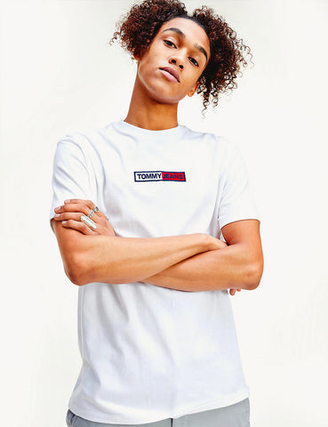 Tommy Jeans Box Logo T-Shirt (Embroidered) - White