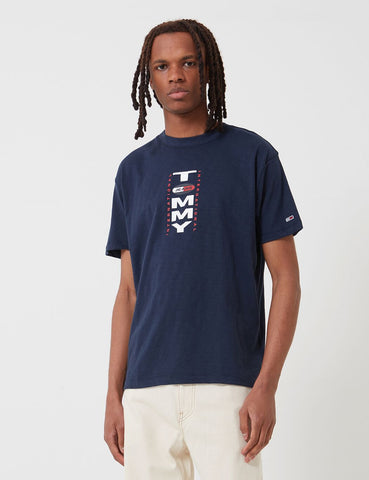 Tommy Jeans Vertical Back Logo T-Shirt - Twilight Navy