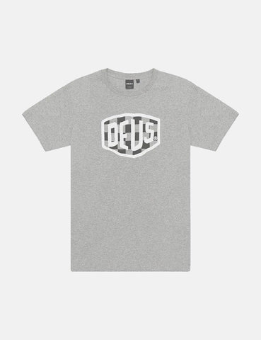Deus Ex Machina Moto Shield T-Shirt - Grey Marle