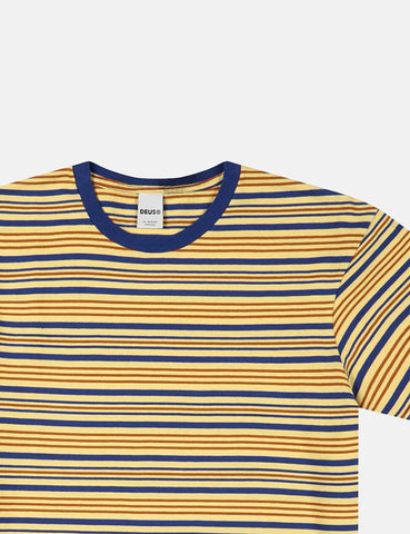 Deus Ex Machina Berties Stripe T-shirt - Golden Haze
